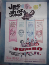Billy Rose's Jumbo, Movie Poster, Doris Day, Jimmy Durante, '62